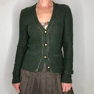 Eddie Bauer Green Cotton Cardigan